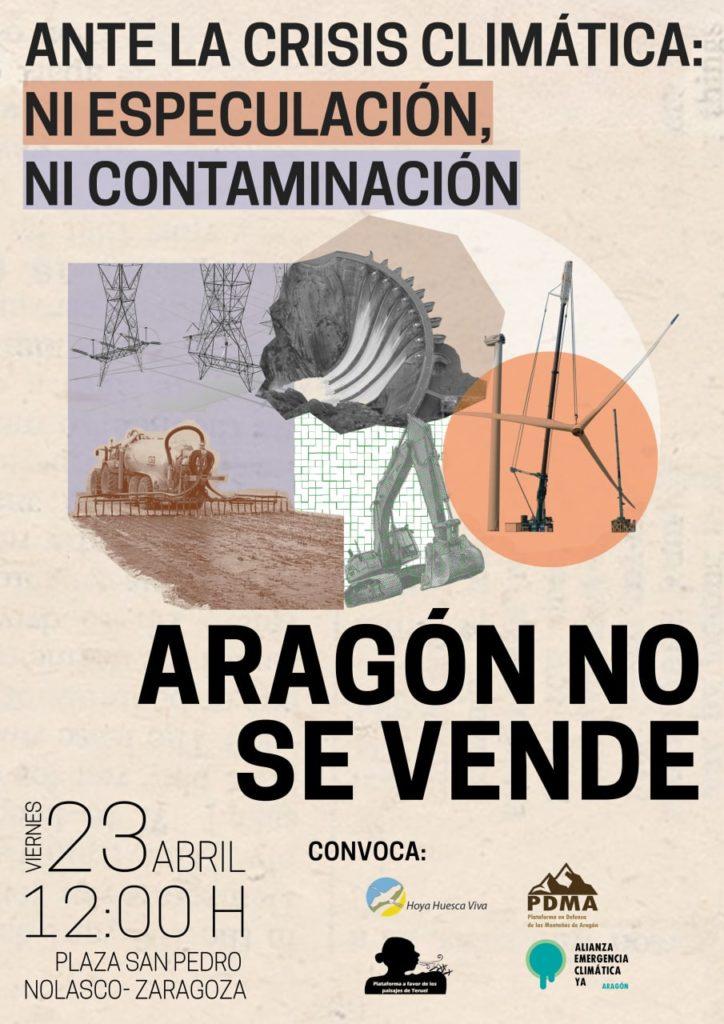 Concentración ¡Aragón no se vende!