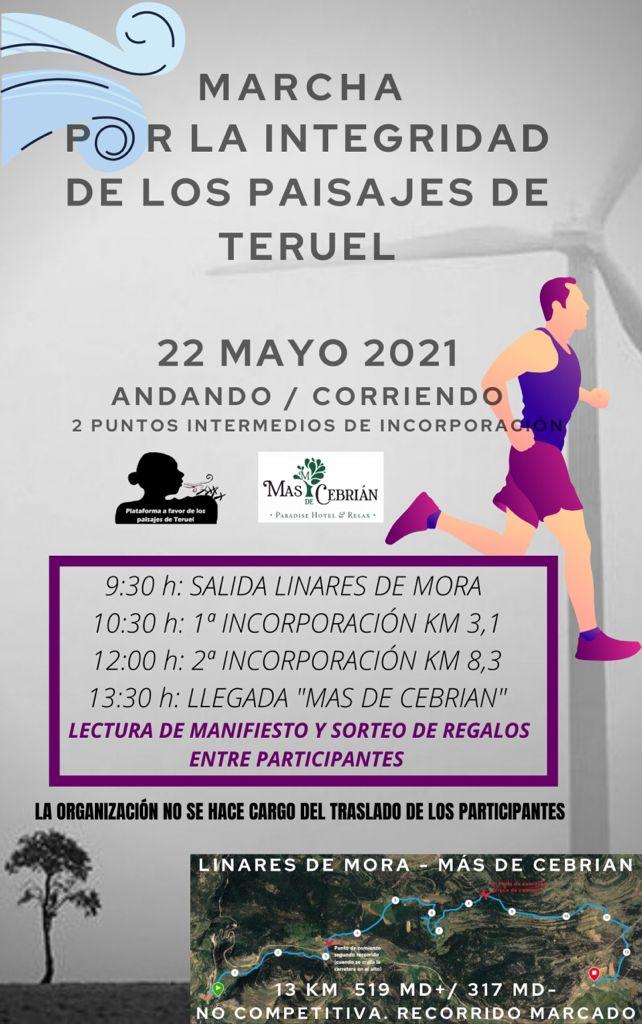 Marcha por la integridad de los paisajes de Teruel