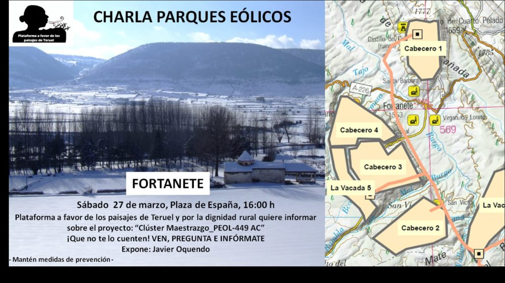 Charla parques eólicos Fortanete