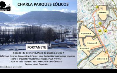 Charla informativa sobre centrales eólicas en Fortanete