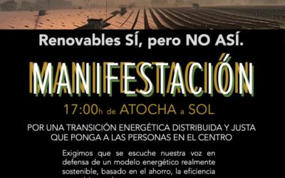 Autobuses para la manifestación de Madrid